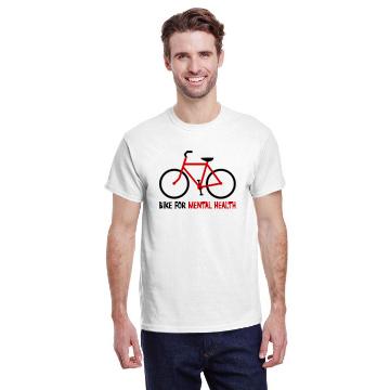 Bike For Mental Health White Tee Shirt