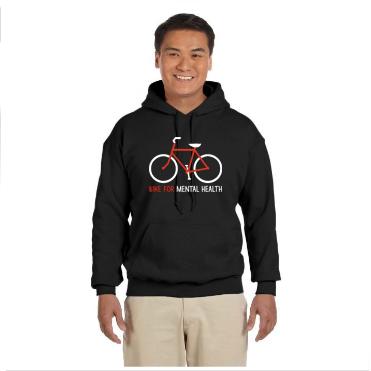 Bike For Mental Health Black Hoodie